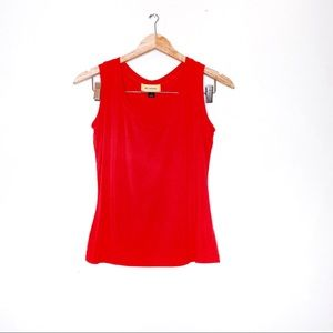 St John Orange Sleeveless Blouse Top M